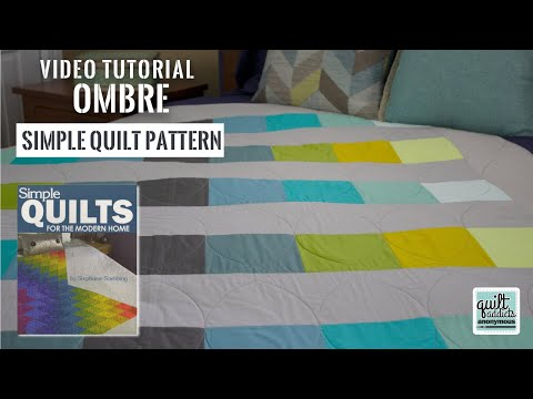 Fast & Simple Strip Pieced Pattern Using Solid Fabrics! Simple Quilts For The Modern Home