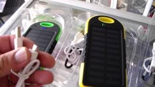 solar charger for cell phone, portable charger for mobile , unboxing