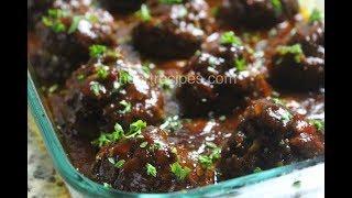 Homemade BBQ Meatloaf Meatballs - Dinner Recipes - I Heart Recipes