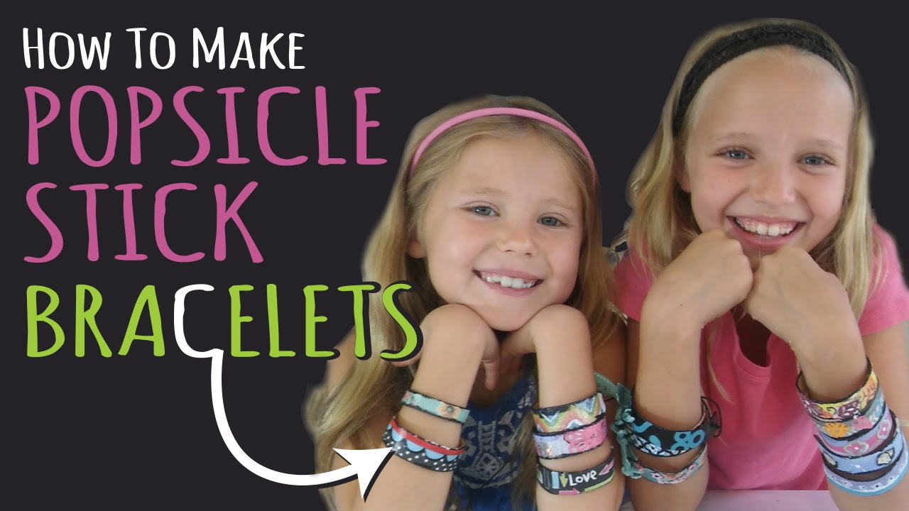 How To Make Popsicle Stick Bracelets Kids Crafts DIY Jewelry