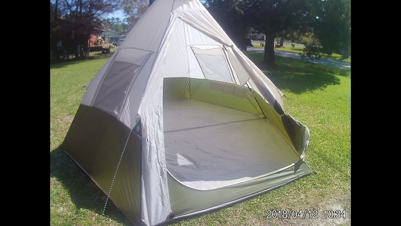 differently ca87e 40fad Ozark Trail 7 person Teepee Tent Review