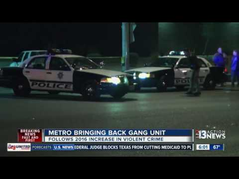 LVMPD announces Gangs/Vice Bureau