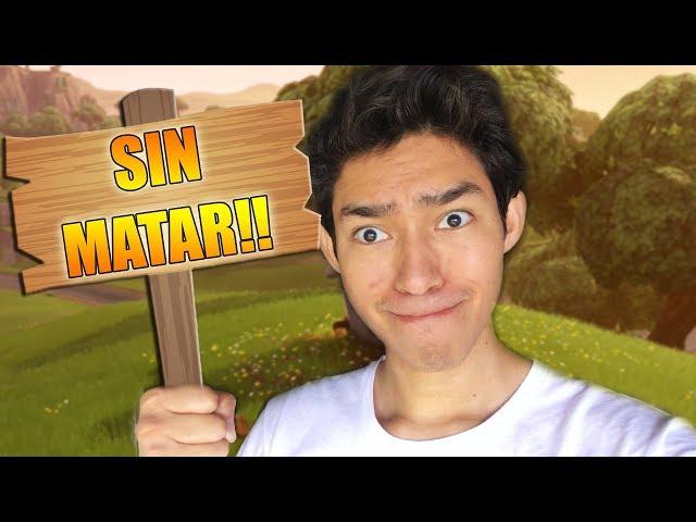 **Challenge** Ganar sin MATAR a NADIE!! - Fortnite