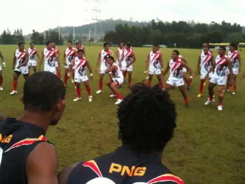 PNG vs Tonga Pre-match confrontation