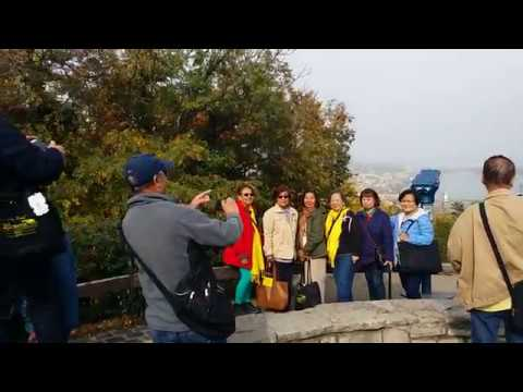 Our Philippine group on the Gellért Hill in Budapest