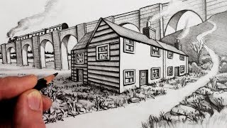 How to Draw a House in 2-Point Perspective: Narrated Tutorial