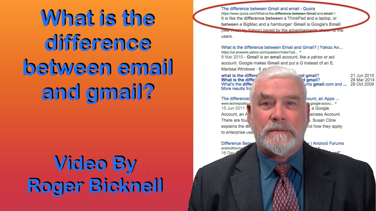 What is the difference between email and gmail  YouTube