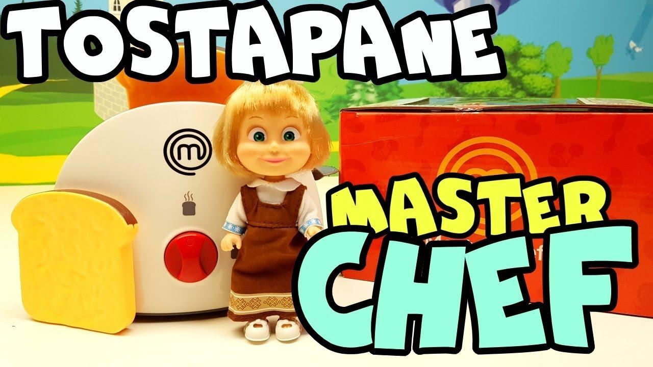 MASHA E ORSO CUOCHI, Mastef Chef Italia 🇮🇹 👩🍳 🐻 video divertente per piccoli 😂