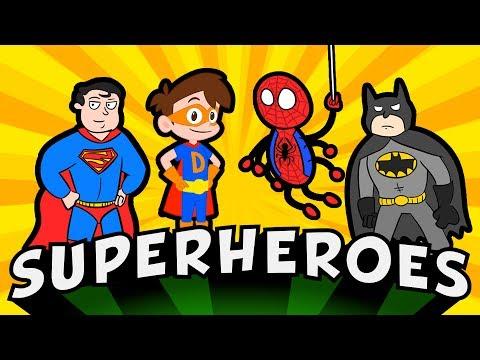 Superheroes Rule! Best Bad Guys, Monsters, Jetpacks, & More!   Cool School Compilation