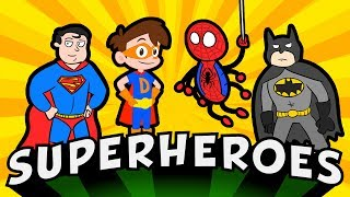 Superheroes Rule! Best Bad Guys, Monsters, Jetpacks, & More! | Cool School Compilation