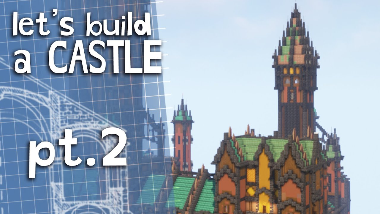 How to build a Castle🏰 in minecraft 1.17! - part 2