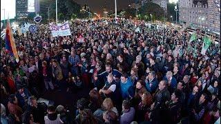 Masivas protestas contra el recorte en las pensiones por discapacidad