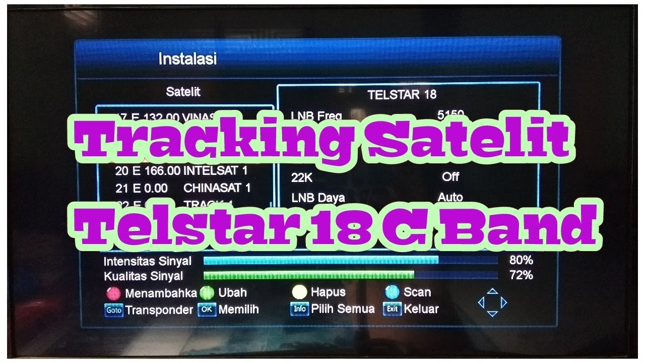 Tracking Satelit Telstar 18