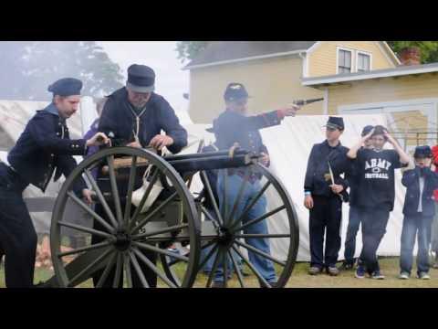 Port Gamble Civil War Gatling Gun Demonstration