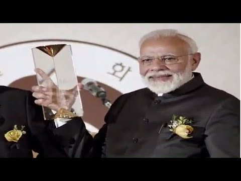 PM Narendra Modi recieves 'Seoul Peace Prize' award in South Korea