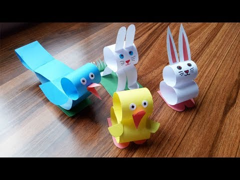 How to make a paper animals.Origami animals for kids.
