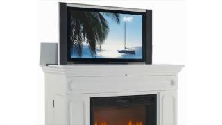 Remington White Fireplace Tv Lift