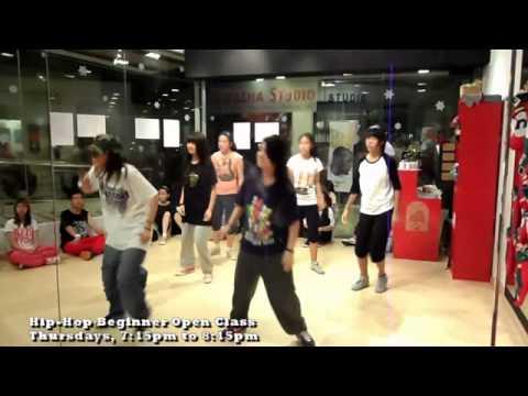 [HipHop] Beginner Open Class - Melissa 23rd December 2010, Dance Class at Natasha Studio, Singapore