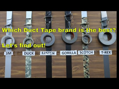 Which Duct Tape Brand is the Best?  Let's find out!