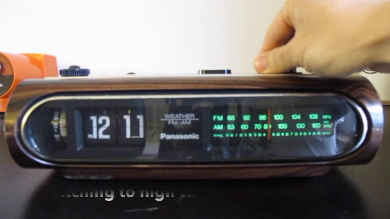 3a9d4138c22a6 Panasonic RC-6236 Flip Clock Radio eml-004 - YouTube