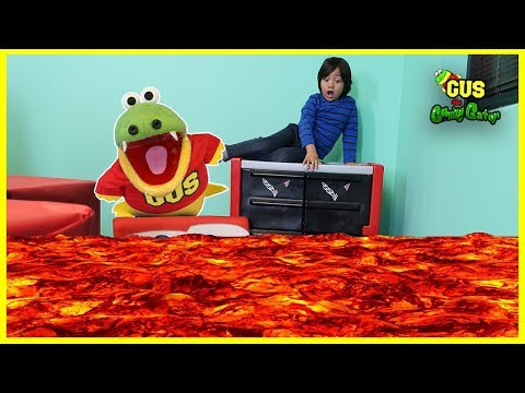 The Floor Is LAVA Challenge with Ryan ToysReview