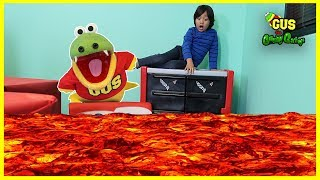 The Floor Is LAVA Challenge with Ryan ToysReview thumbnail