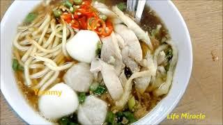 Malaysia Penang Chinatown Food Koay Teow Theng槟城唐人街美食鸡肉果条汤很好吃