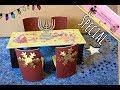 Tisch und Stühle basteln