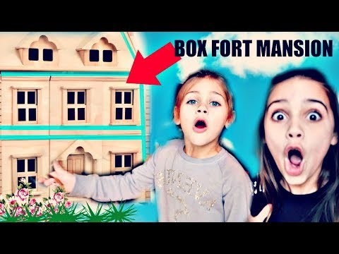 Building A BOX FORT MANSION | Liv and WILLOW