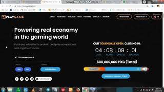 PLAY GAME ICO - Powering real economy in the gaming world