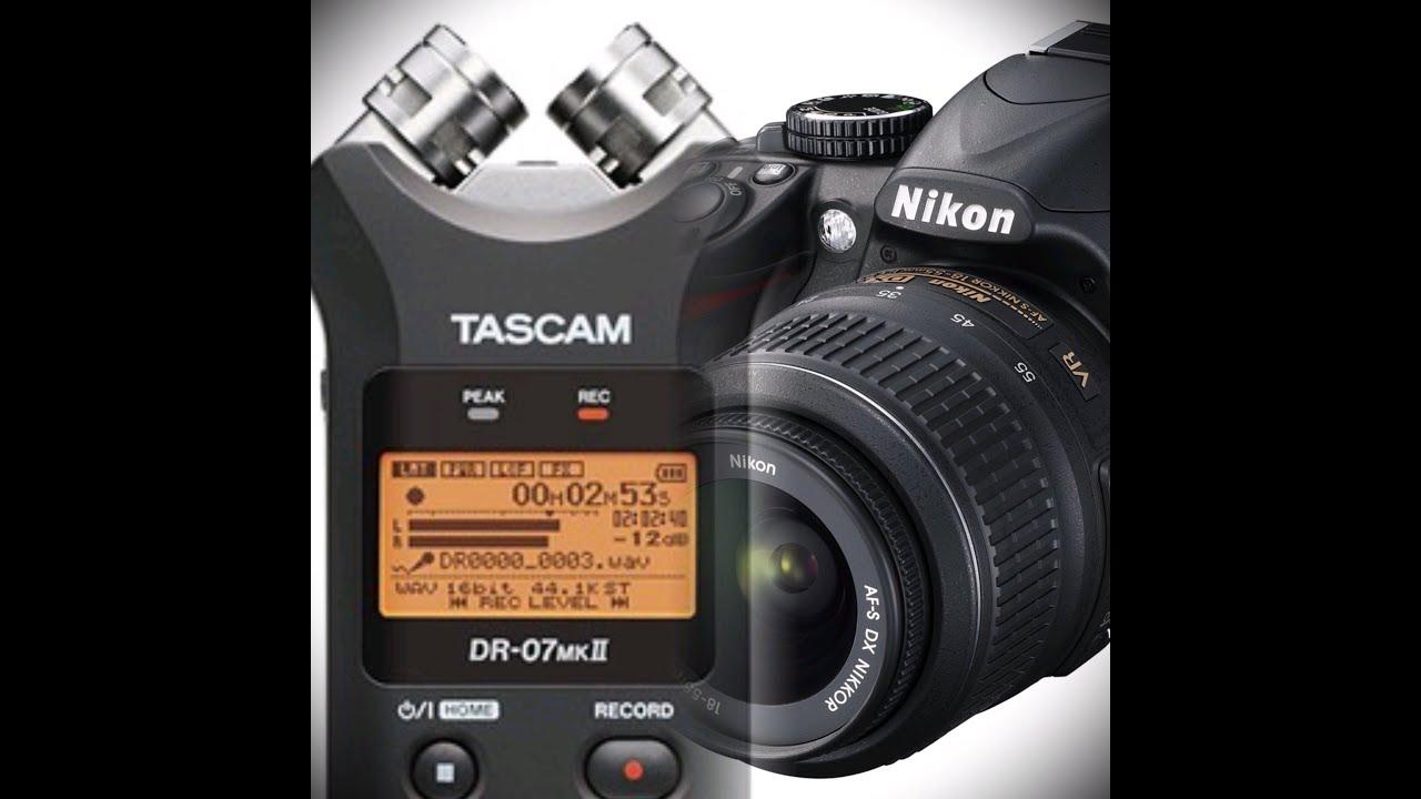Prueba de Sonido Cámara Nikon D3100 y Grabadora Tascam DR-07 - YouTube