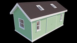 - Google Sketchup - Shed/workshop - Animation - Hd -