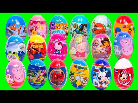 Surprise Eggs Frozen Elsa Spiderman Superhero Videos Angry Birds Peppa Pig and More Surprise Toys