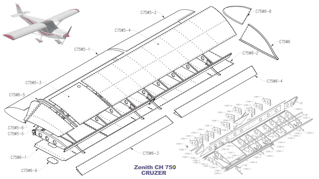 building the zenith ch 750 cruzer kit airplane  part two