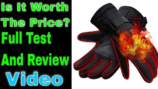 Autocastle Mens OR Womens Electric Heated Gloves Heating Gloves,Heat Insulated Thermal Gloves