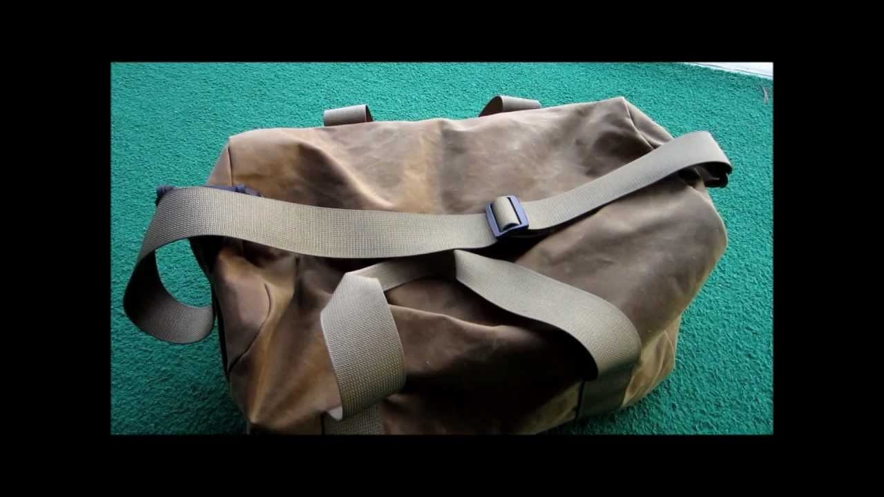 56f2414dca Filson Tin Cloth Small Duffle Bag Review - YouTube