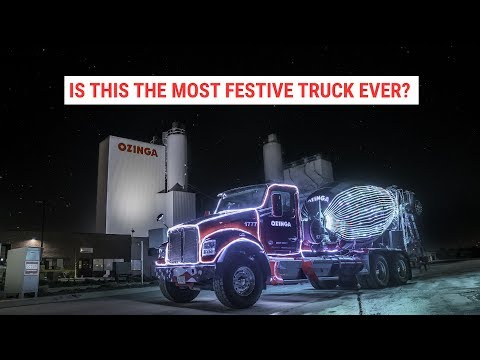 Tim Palmer - If A Concrete Truck Can Display The Christmas Spirit, You Can Too!