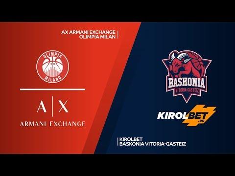 AX Armani Exchange Olimpia Milan - KIROLBET Baskonia Vitoria-Gasteiz   EuroLeague RS Round 8