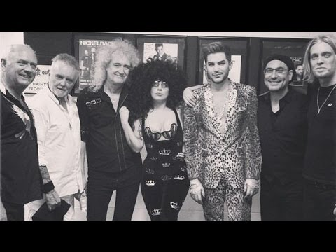 Lady Gaga Performs Live With Rock Legends Queen