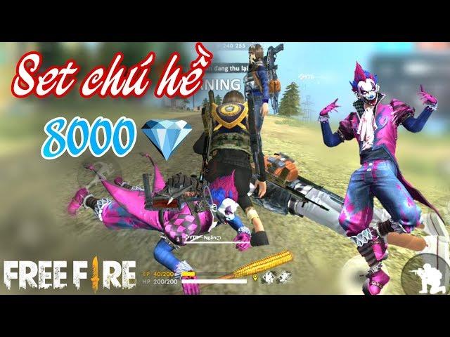 Free Fire | Trang Ph?c Chú H? VQMM H?n 8000 Kim C??ng C?a Nik ??i Gia | Meow DGame