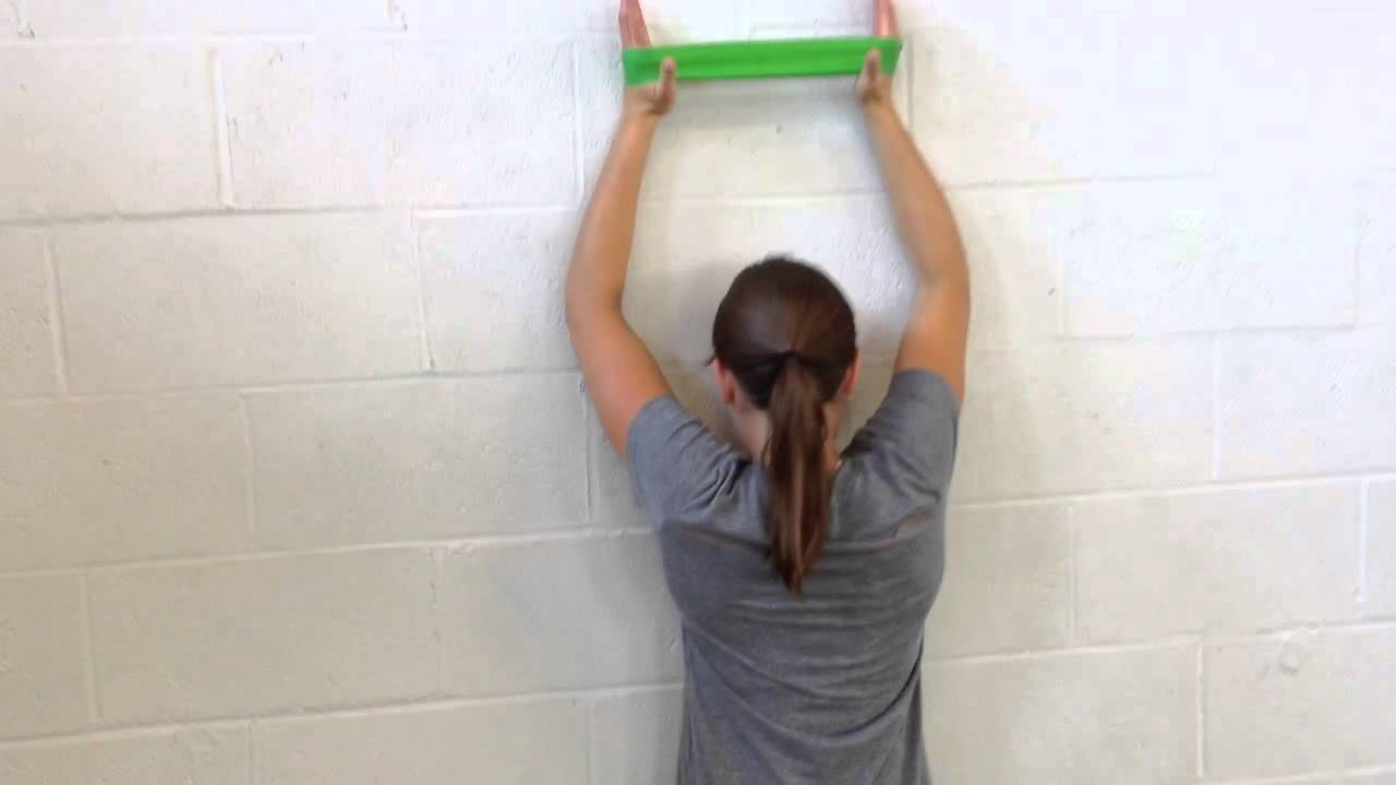 Band Resisted Wall Slides Shoulder Dynamic Stability