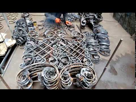 welding wrought iron decorative panels for balcony railings
