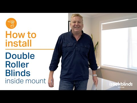 How to Install a Double Roller Blind with a chain drive - Inside mount