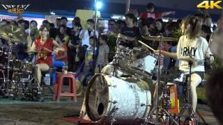 4K畫質 曼青 羅小白 豆豆龍 爵士鼓 姐姐(4K 2160p)@凱旋夜市爵士鼓表演[無限HD] 🏆 MP3