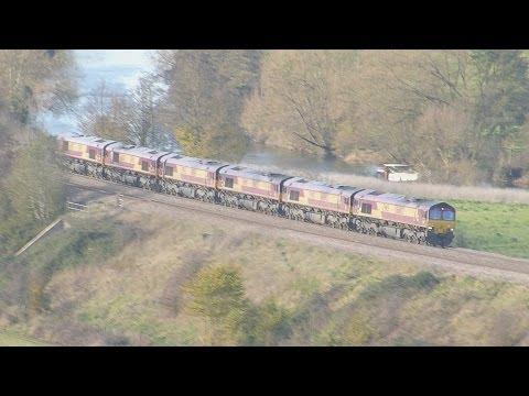 0x12 Convoy x 6 locos, @ Newton st Loe, Bath 30-11-13