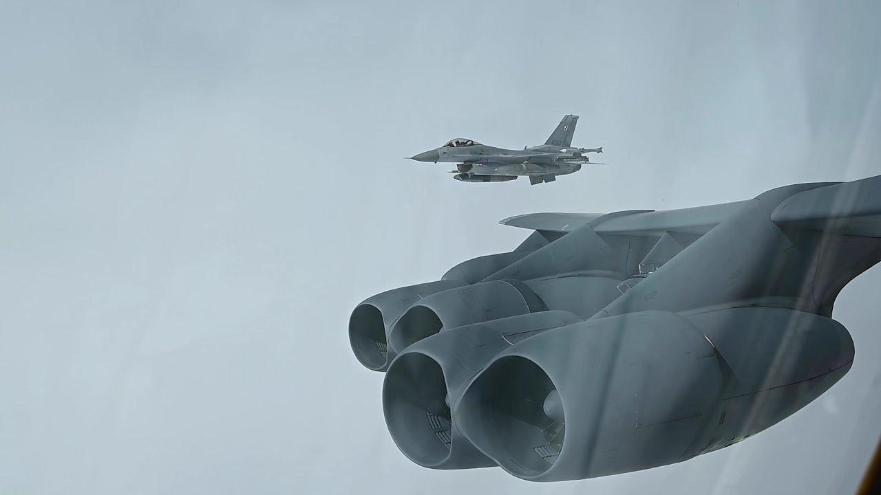 US Military News • US B-52H's Refuel & Intercepts with Polish & Danish Aircraft – May 16 2021