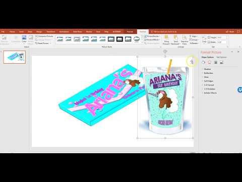 Publisher Party Favor - Capri Sun Juice Pouch Template and Mock Up - Unicorn Theme