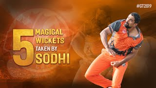 Highlights |  Watch the 5 magical wickets taken by Sodhi in Global T20 Canada | 2019