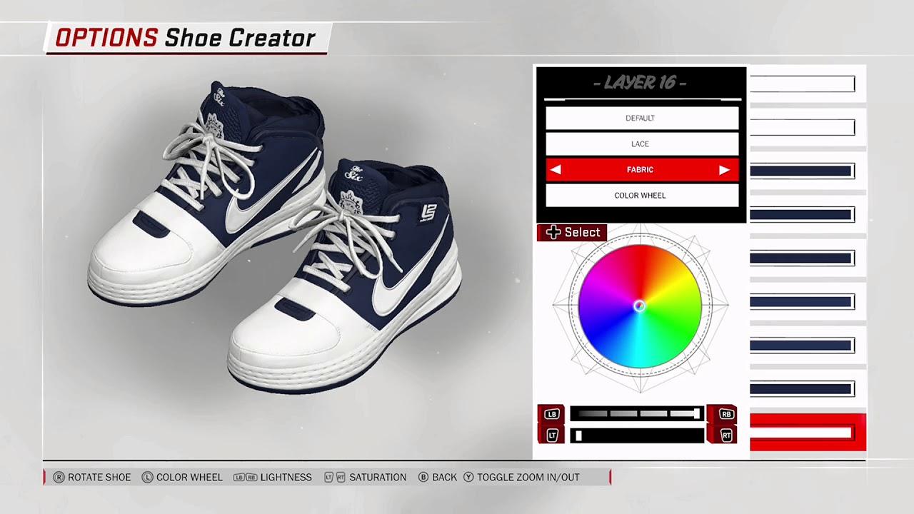 36990d73b412 NBA 2K18 Shoe Creator Nike LeBron 6