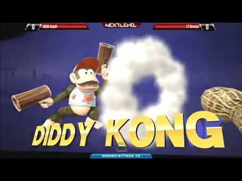 Smash Attack 10 Arcadian - LT Stretch (Marth/Link) vs H03K HelpR(Diddy Kong/Lucas)[720P60FPS]